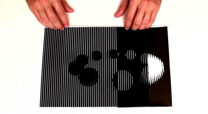Usando solo dos hojas, un hombre nos muestra 6 ilusiones opticas sorprendentes