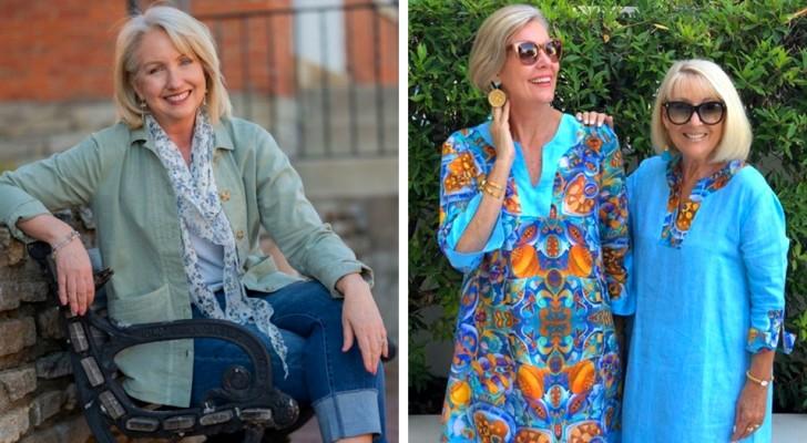 12 Beispiele bequemer und eleganter Outfits für Frauen über 50, die sich frei fühlen, sich zu kleiden, wie sie es wollen