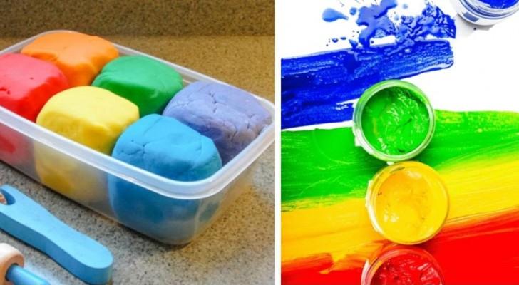 Pomeriggio creativo con i bimbi? Crea in casa vernice e sapone modellabile per un divertimento naturale