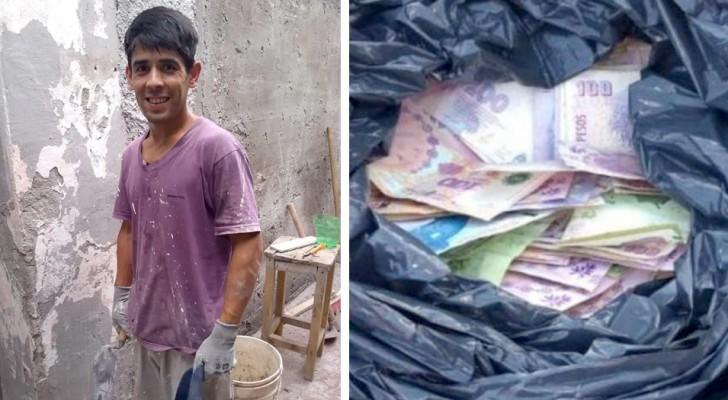 Albañil encuentra una bolsa llena de dinero y la devuelve a su dueño: recompensado con un trabajo permanente