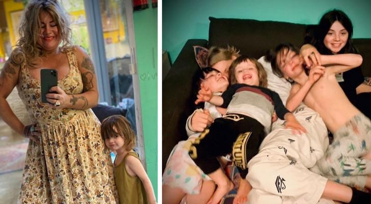 Uma mãe estabelece horários para cuidar de seus 7 filhos: depois das 19h30 ela se declara