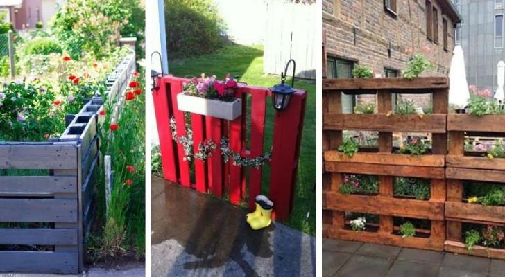 Recinzioni e pareti divisorie per il giardino: scopri come ricavarle dai pallet riciclati