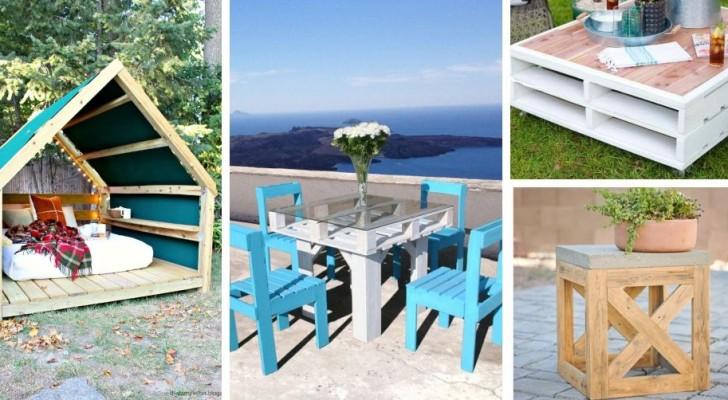 Vuoi rendere giardino e balcone angoli da sogno? Arricchiscili con questi fantastici mobili fai-da-te
