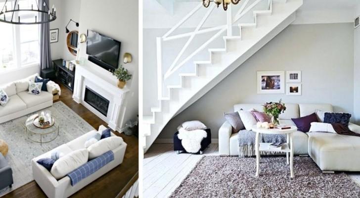 Découvrez les meilleures façons de placer le canapé dans le salon et valoriser l'apparence de toute la pièce