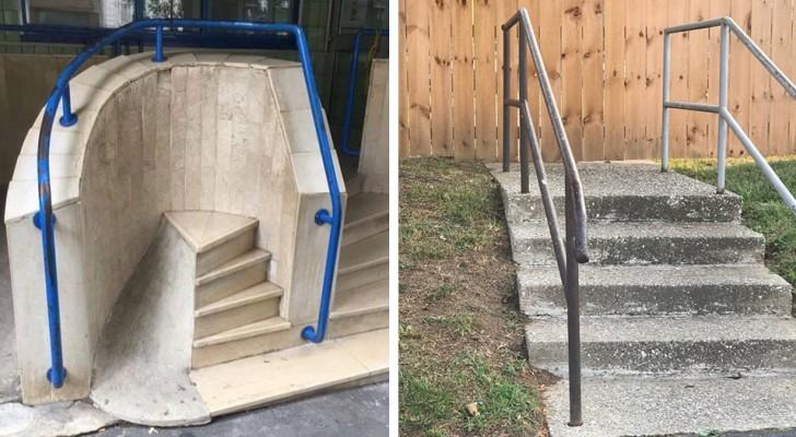15 trappen die zo onzinnig zijn dat ze lijken te zijn gebouwd om mensen in verwarring te brengen