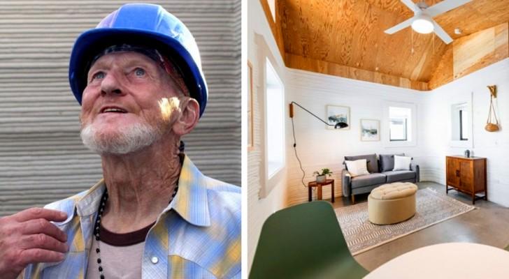 Este hombre de 70 años es el primer indigente en recibir una casa impresa en 3D
