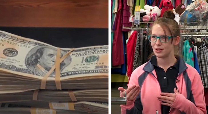 En ung mamma hittar 42.000 dollar i några använda kläder och ger tillbaka dem till ägaren