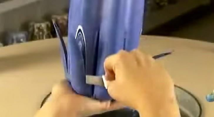 Inizia tagliando un blocco di cera: la sua creazione finale vi lascerà a bocca aperta.