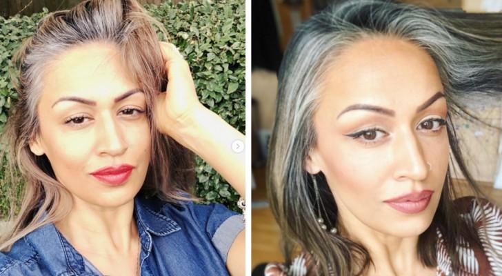 Elle renonce aux colorations et assume le naturel de ses cheveux blancs : elle incite maintenant d'autres femmes à faire de même