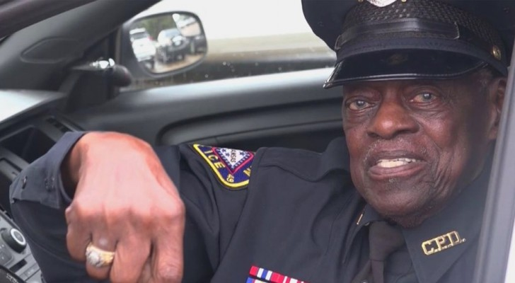 This 91-year-old policeman is still on duty and has no intention of retiring