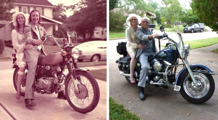 Aujourd'hui comme hier : 16 couples qui se sont amusés à recréer les mêmes photos ensemble des années plus tard