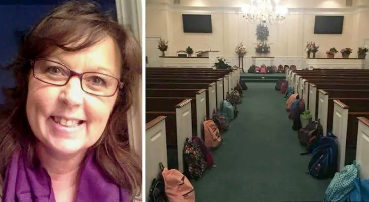 No flowers but backpacks full of school supplies for those who need them: a wish granted at a teacher's funeral