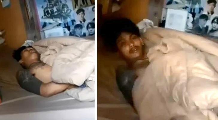 Hij gaat een huis binnen om te stelen, maar valt in slaap: de agenten maken hem wakker en arresteren hem