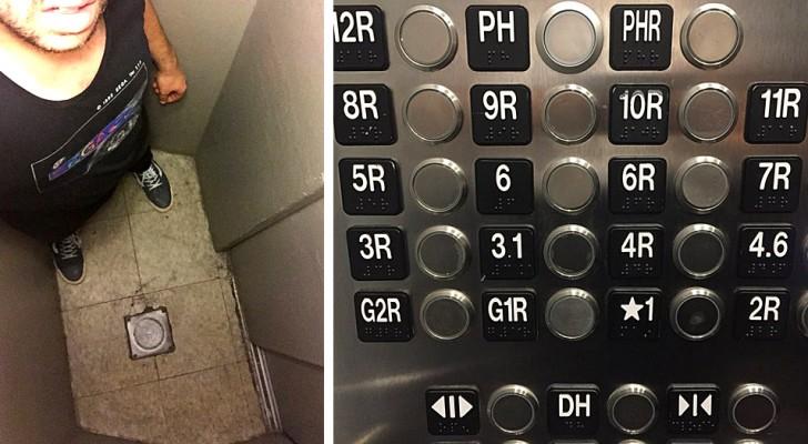 16 ascenseurs si dénués de logique qu'ils ont incité les gens à prendre les escaliers
