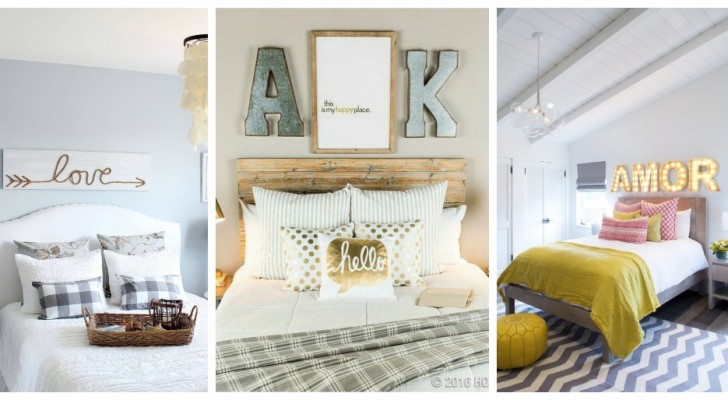 10 incantevoli decorazioni da parete per personalizzare e abbellire la camera da letto