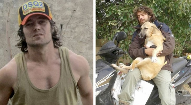 He quit his modeling career to build a shelter for all the stray animals in his city