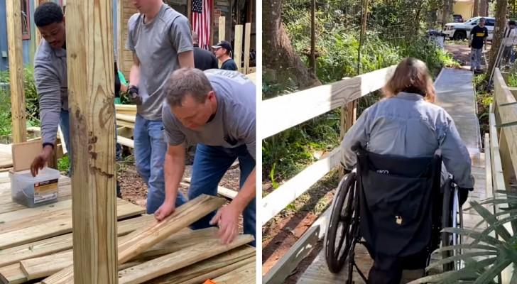 Dei poliziotti riparano la rampa di accesso alla casa di una donna disabile, nel loro giorno libero: Non poteva uscire