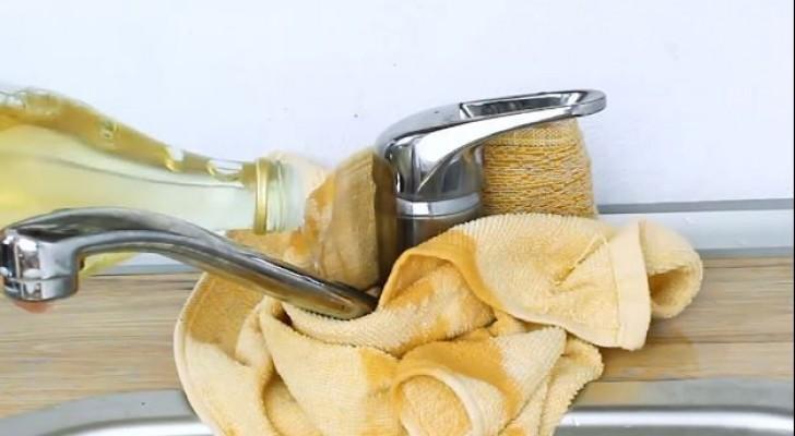 I metodi fai-da-te semplici ed efficaci per rimuovere le macchie scure alla base dei rubinetti