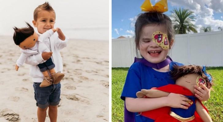 Realizza bambole con le stesse particolarità fisiche dei bambini: vuole aiutarli ad accettare le diversità