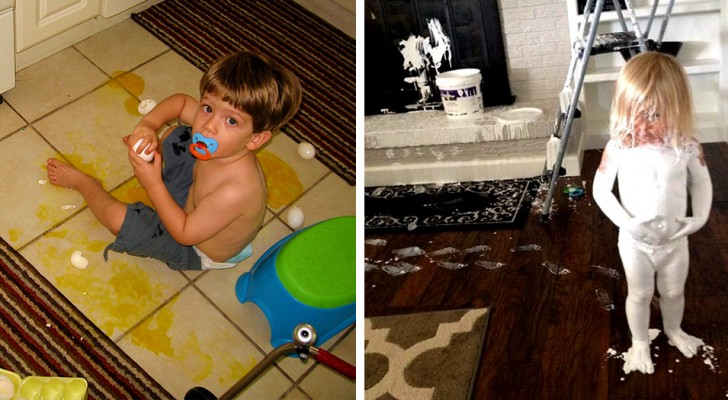Kleine Katastrophen: 15 lustige Fotos von Kindern, die die Geduld ihrer Eltern auf die Probe stellten