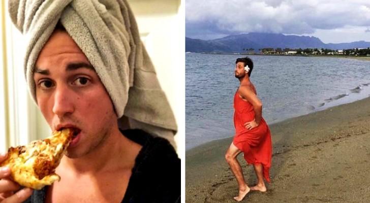 17 foto's van mannen die vrouwen in de maling nemen door klassieke Instagram-poses na te maken