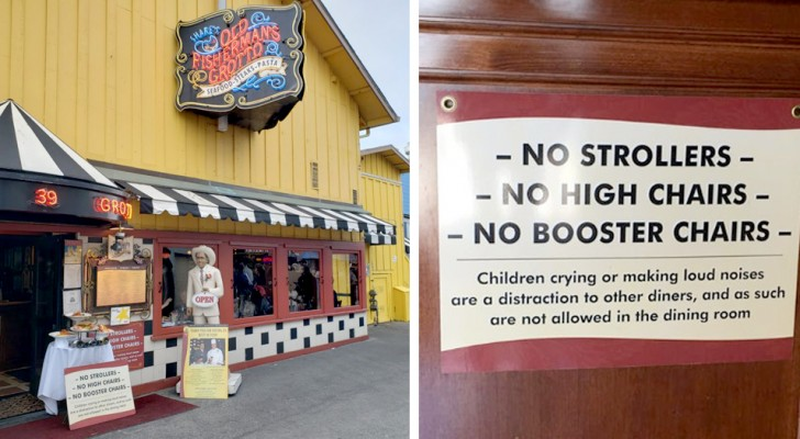 Inga barnvagnar eller barnstolar En restaurang nekar tillträde till familjer med högljudda och odisciplinerade barn
