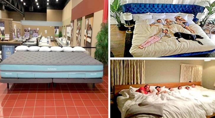 Diese riesige Matratze wurde entwickelt, um einer sechsköpfigen Familie Platz bieten zu können