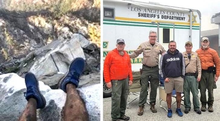 Ein Wanderer verirrt sich in den Bergen und wird dank eines Fotos von seinen Füßen gerettet