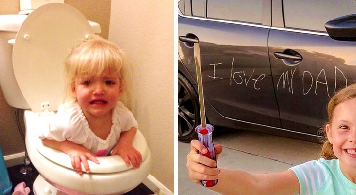 16 Bilder zeigen uns, warum wir Kinder nicht eine Minute allein lassen sollten