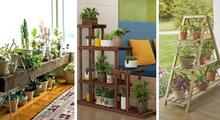 Scaffali porta-vasi: metti in evidenza piante e fiori con queste splendide idee di arredo