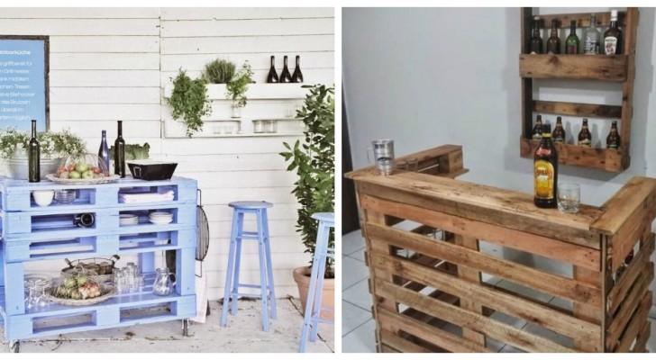 Coin bar avec les palettes ? Créez votre meuble personnalisé pour la maison ou pour le jardin
