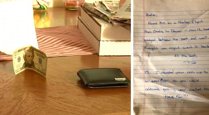 Encuentra una billetera perdida y antes de devolverla al legítimo propietario agrega un poco de dinero