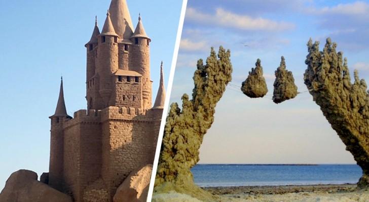 Sandburgen: 15 Beispiele von Kreationen am Meer, die jeden Architekten neidisch machen würden