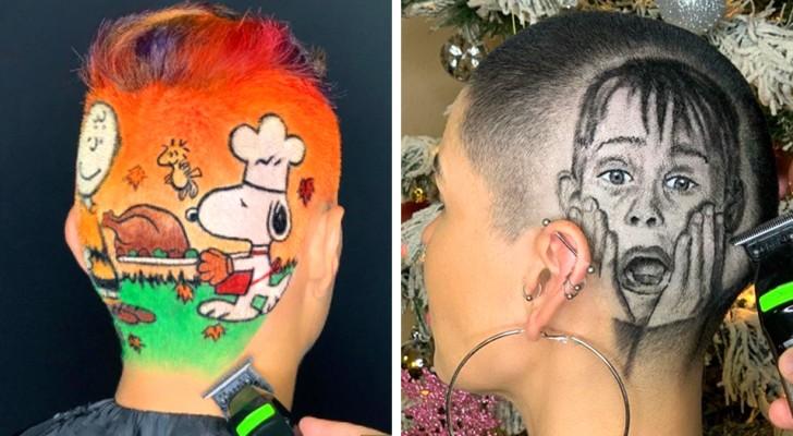 Een kapper geniet ervan het haar van zijn klanten op de meest absurde manieren te knippen: 15 van zijn beste werken