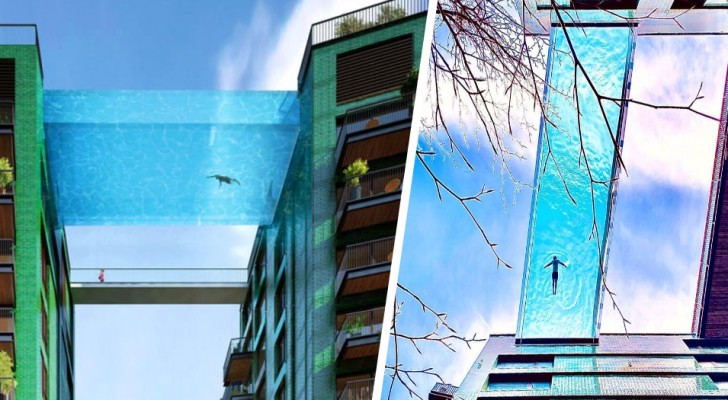 La piscina più alta del mondo si trova a Londra: è trasparente e sospesa a 35 metri di altezza