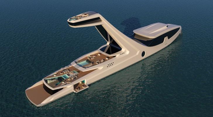 Dit superjacht met verhoogde kajuit is een waar drijvend paradijs van luxe en comfort
