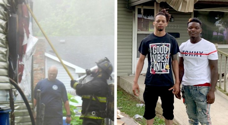 Due ragazzi salvano uomo da un incendio mentre le altre persone erano occupate a filmare con i cellulari