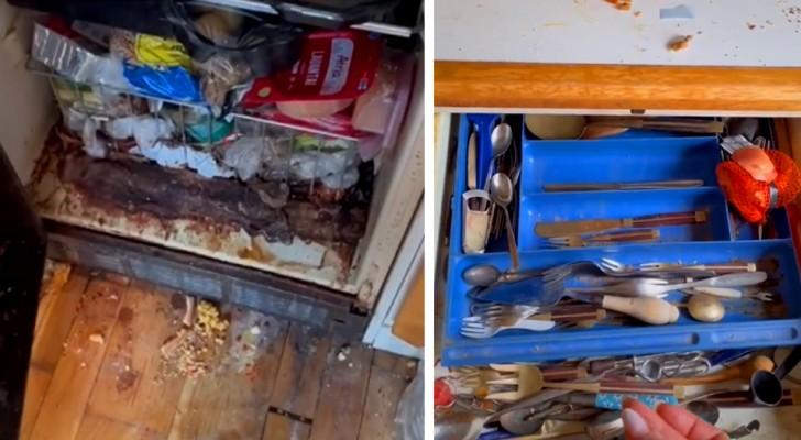 Deux personnes âgées ne peuvent plus nettoyer leur maison : une jeune femme refait briller leur appartement après des heures et des heures de ménage