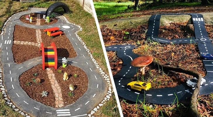 Piste per automobili in giardino: fai felici i bambini con questi lavoretti fai-da-te