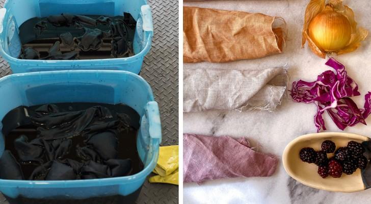 Tutte le istruzioni da seguire per tingere i tessuti con coloranti naturali