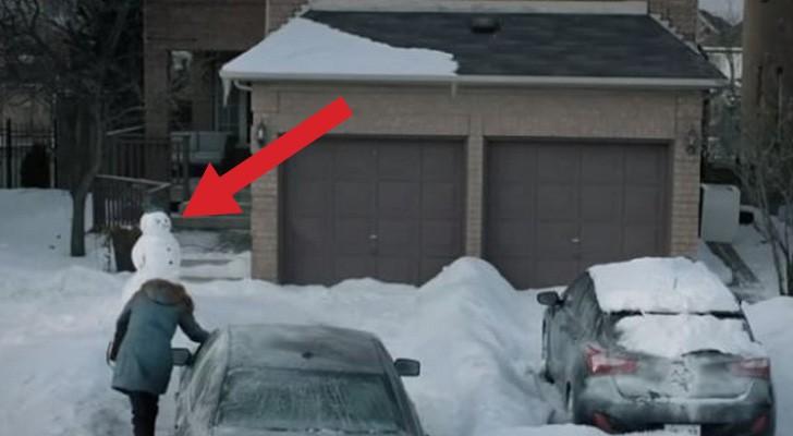 Als je klaar bent met de winter, begrijp je de actie van deze vrouw helemaal!