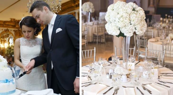 """Bruidspaar bekritiseerd omdat ze een buffet aanboden, afhankelijk van het huwelijkscadeau: """"Besteed je meer, eet je beter"""""""