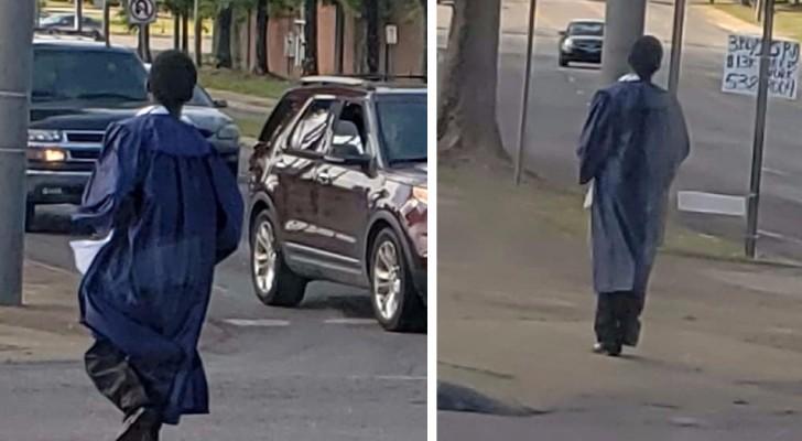 Han gick upp varje morgon klockan 4 för att åka till skolan med bussen - en kändis ger honom en bil