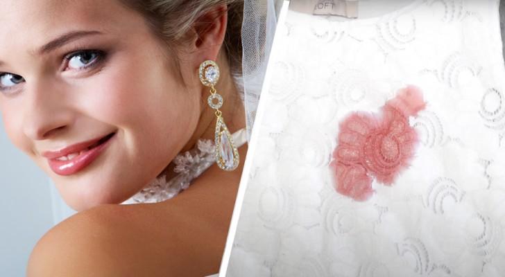 Noiva dá $ 100 para a garçonete que derramou molho de tomate no vestido branco de sua sogra
