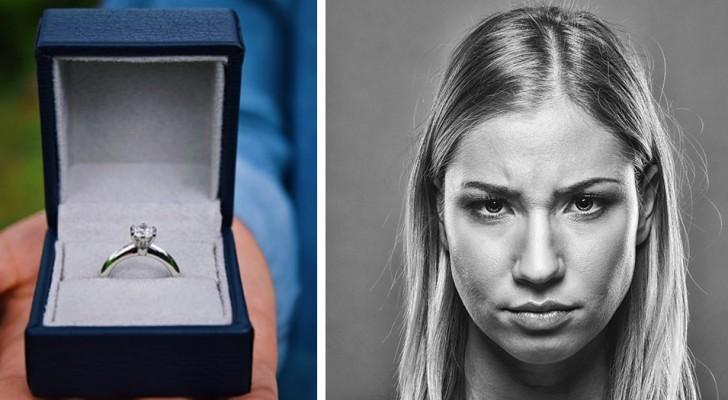 Il dépense 20 000 $ pour la bague de fiançailles mais elle dit que ce n'est pas assez