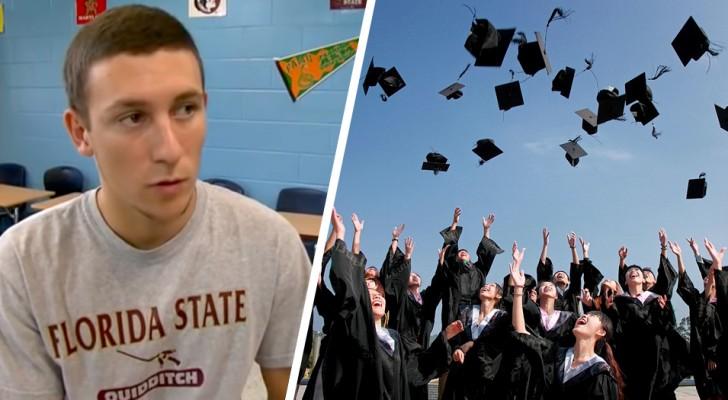 Senzatetto per 12 anni, questo ragazzo si è diplomato a pieni voti diventando il più bravo della sua classe