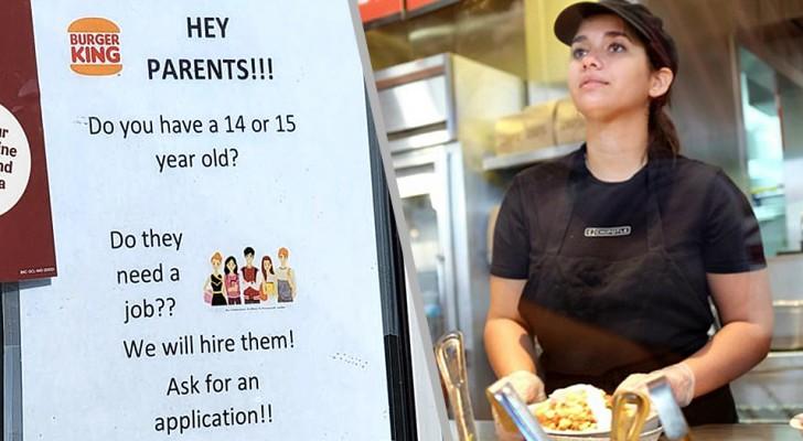 Un restaurant publie une offre d'emploi ciblant les mineurs et soulève un âpre débat