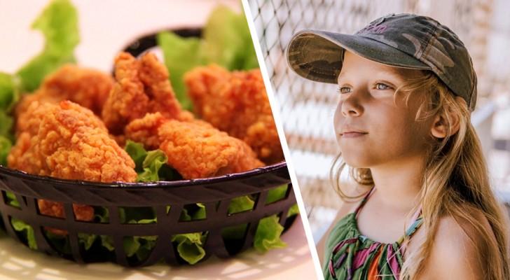 Donna scopre che l'ex-marito fa mangiare crocchette di pollo alla figlia vegana