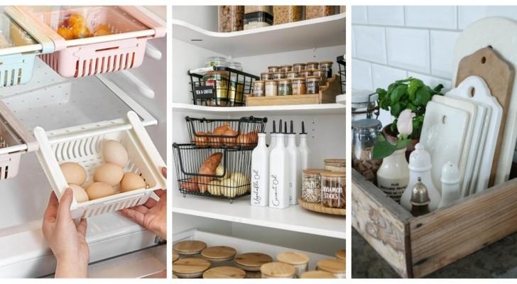 Mettez de l'ordre dans votre cuisine avec ces solutions brillantes qui vont vous faire gagner de la place