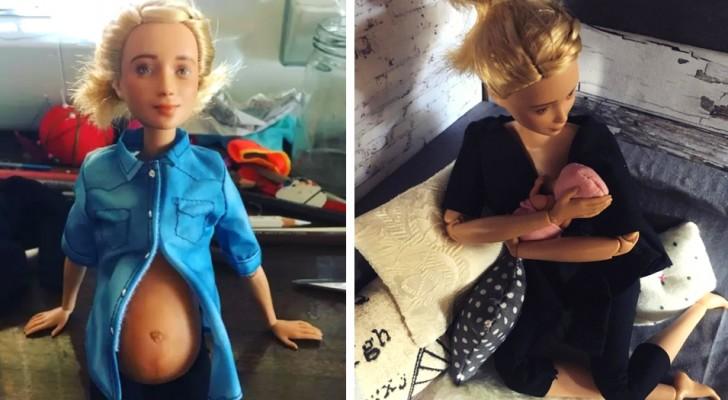 Eine Mutter hat Puppen gestaltet, die Mutterschaft getreu darstellen: Sie sind schwanger und stillen